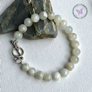 Moonstone Healing Bracelet With Silver Toggle Clasp